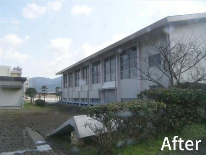 福岡市消防学校 体育館外壁改修工事
